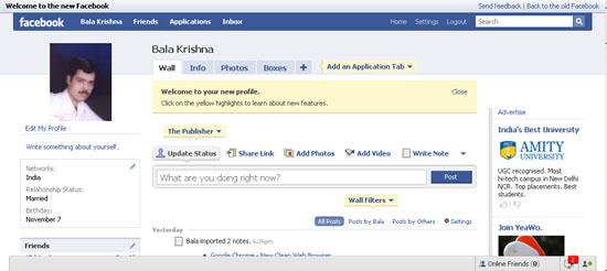 Facebook New Profile Face