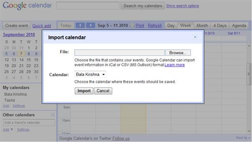 Google Calendar Export Csv