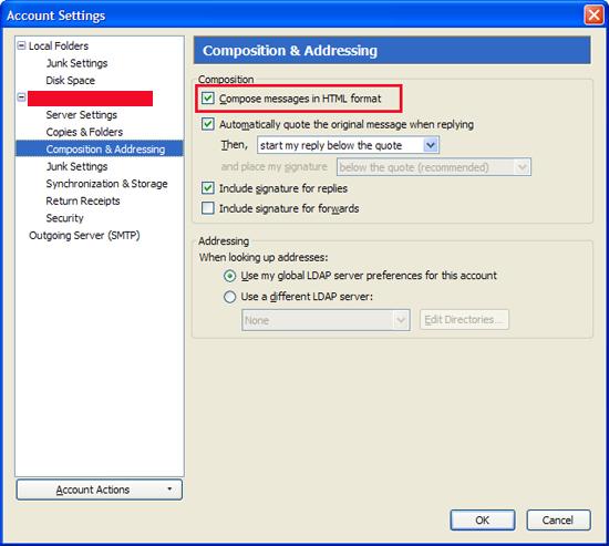 Change Default Mozilla Thunderbird Message Font